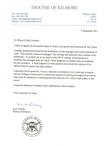 Letter from Bishop 2006