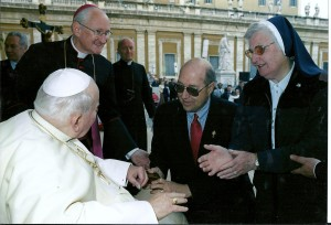 Jim Gilboy and Sr. Pius meet Pope John Paul II